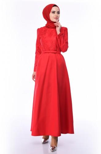 Red İslamitische Avondjurk 8722-01