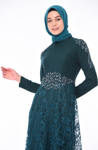 Emerald Islamic Clothing Evening Dress 8013-03