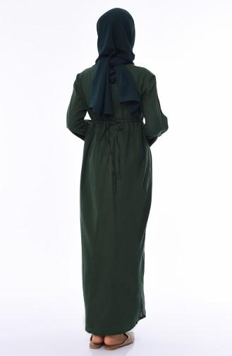Robe Hijab Vert emeraude 0440-02