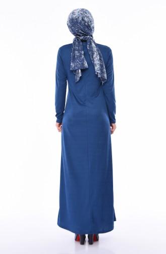 Düz Elbise 2062-01 İndigo