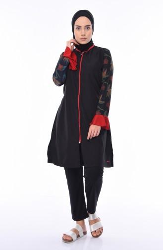 Black Swimsuit Hijab 270-01