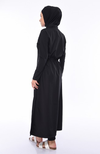 Maillot de Bain Hijab Noir 386-01