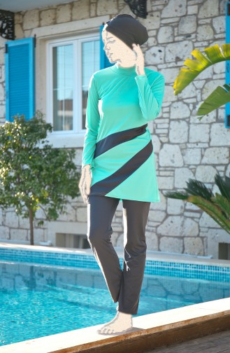 Mint green Swimsuit Hijab 1914-01