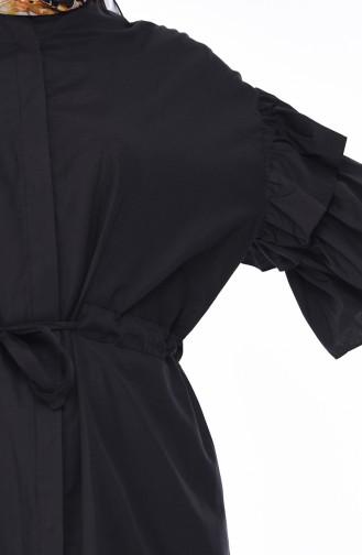 Fırfırlı Tunik 5015-02 Siyah