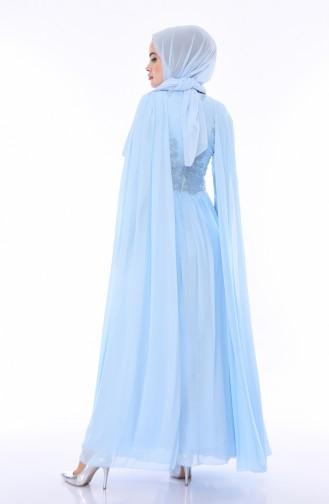 Besticktes Abendkleid 4491-02 Babyblau 4491-02