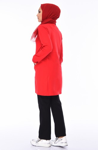 Fermuarlı Eşofman Takım 3478-05 Kırmızı