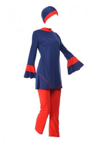 Navy Blue Swimsuit Hijab 0346-02