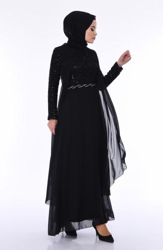 Black İslamitische Avondjurk 52758-03