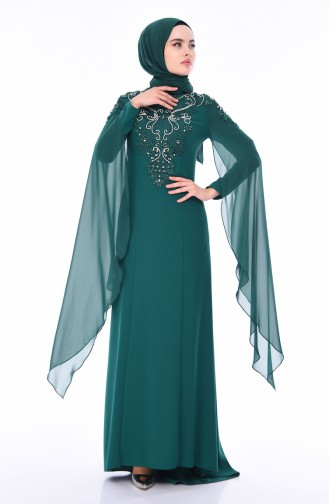 Emerald Islamic Clothing Evening Dress 4530-03