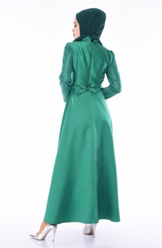 Smaragdgrün Hijab-Abendkleider 8722-04
