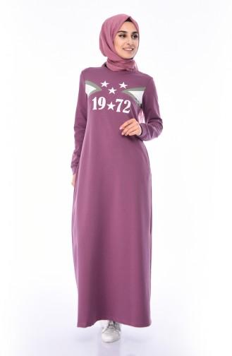 Robe Sport Imprimée 9055-01 Violet 9055-01