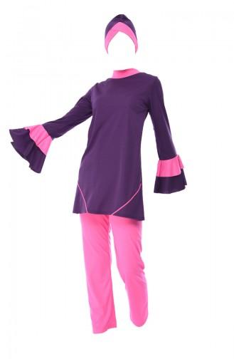 Damson Swimsuit Hijab 0346-03