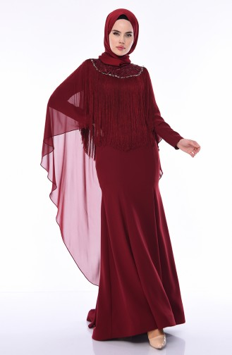 Abendkleid 4529-01 Weinrot 4529-01