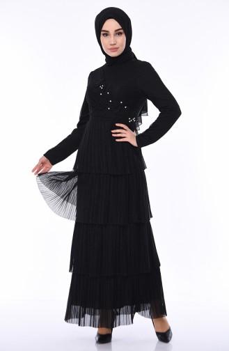 Black İslamitische Avondjurk 8012-03
