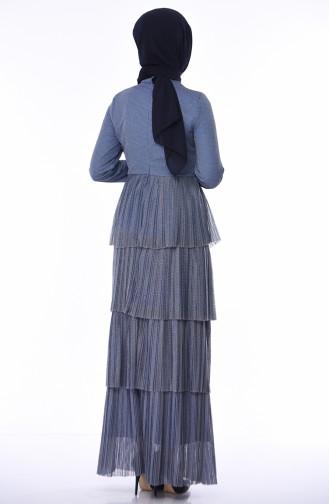 Indigo Islamic Clothing Evening Dress 8012A-01