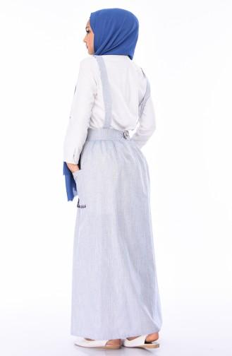 Grau Hijap Kleider 0318-02