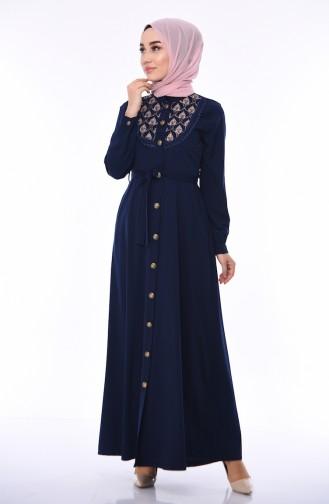Navy Blue Abaya 9106-04