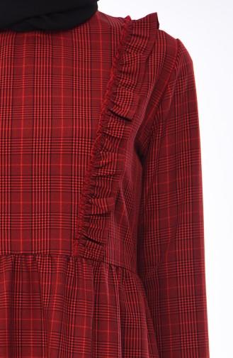Robe a Motifs 1082-02 Bordeaux 1082-02