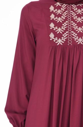Robe Hijab Cerise 5027-09