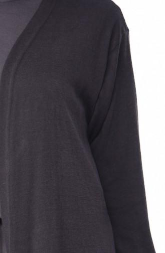 Light Black Cardigan 7609-08