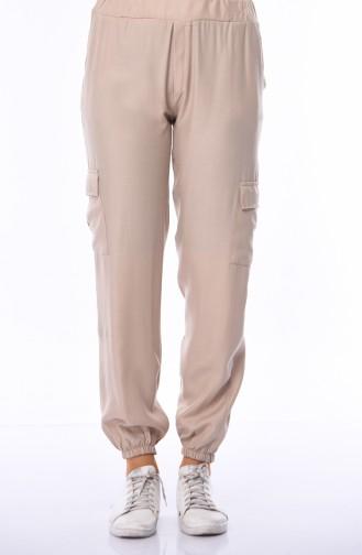Pantalon Taille élastique 4239-05 Beige 4239-05