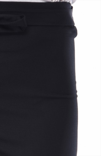 Kuşaklı Bol Paça Pantolon 2095-01 Siyah