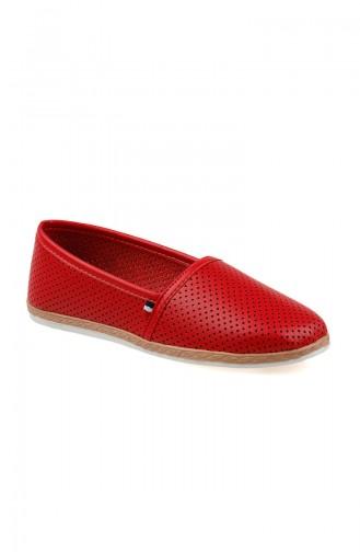 Bayan Düz Ayakkabı 0127-11 Açık Kırmızı