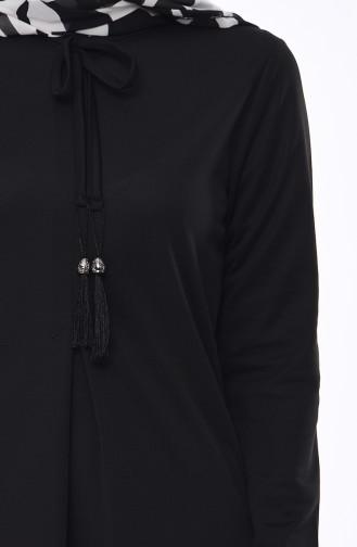 Black Hijab Dress 4037-01