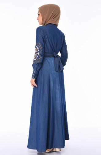 Navy Blue Abaya 8980-08