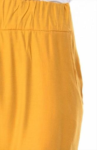 Pantalon Taille élastique 4239-01 Moutarde 4239-01