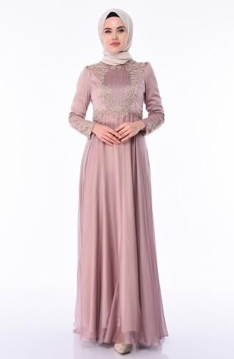 Mink Islamic Clothing Evening Dress 6163-01