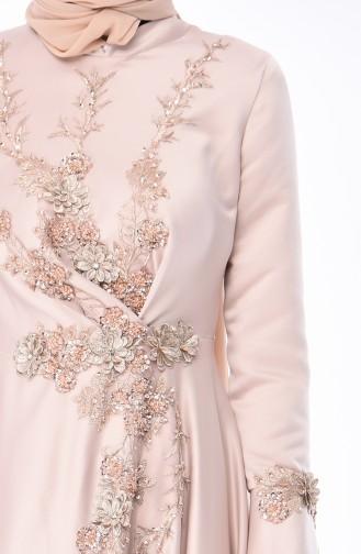 Stone Islamic Clothing Evening Dress 6164-03