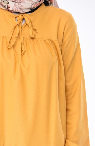 Ruched Dress 7268-02 Yellow 7268-02