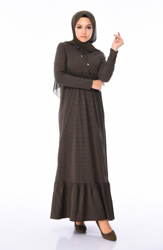 Dunkelgrün Hijap Kleider 1205-07