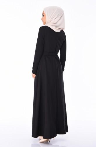 Black İslamitische Jurk 9326-01
