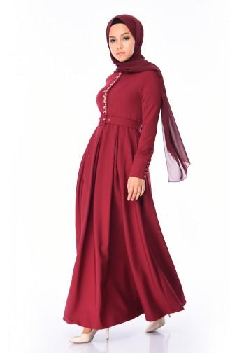 Claret red Dress 9326-02