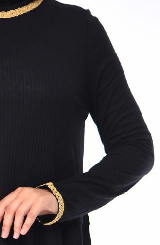 Kol Detaylı Tunik 1371-01 Siyah