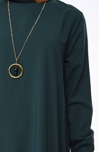 Robe Hijab Vert emeraude 1202-10