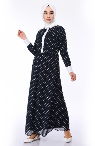 Navy Blue Dress 3500-01