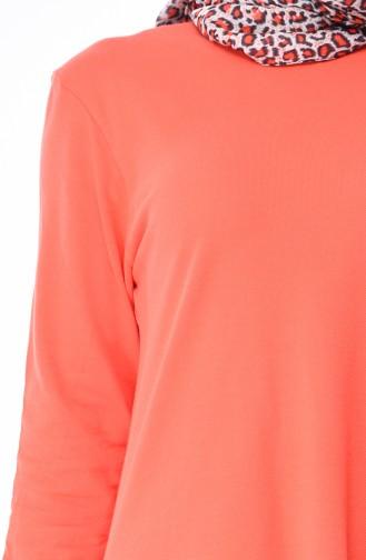 Longue Tunique 7895-11 Orange 7895-11