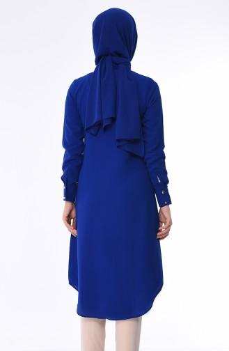 Tunique avec Collier 4224-09 Bleu Roi 4224-09