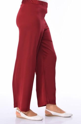 Pantalon élastique 1023-02 Bordeaux 1023-02