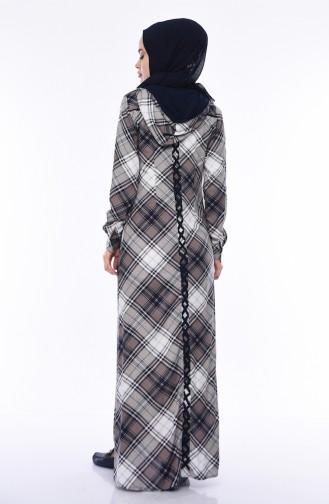 Sommerliches Kleid mit Kapuze 1750-02 Nerz 1750-02