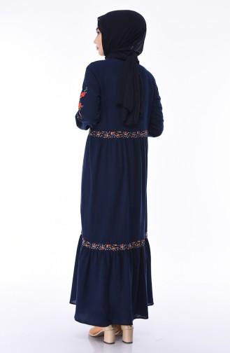 Dunkelblau Hijap Kleider 5000-01