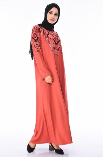 Robe Grande Taille 4496-05 Orange Pâle 4496-05