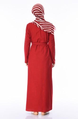 Claret red Dress 6010-02