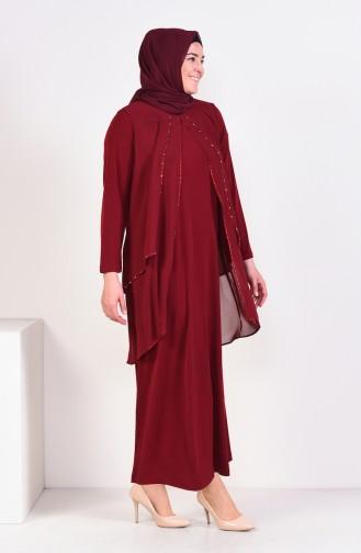 Habillé Hijab Bordeaux 1013-04