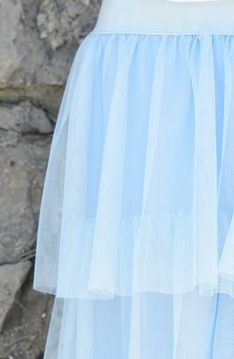 Jupe Tulle élastique 12008-05 Bleu Glacé 12008-05