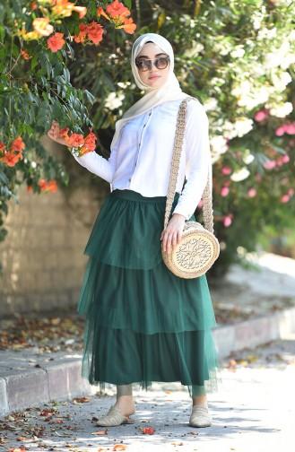 تنورة أخضر زمردي 12008-06