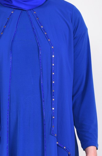 Saxon blue İslamitische Avondjurk 1013-01